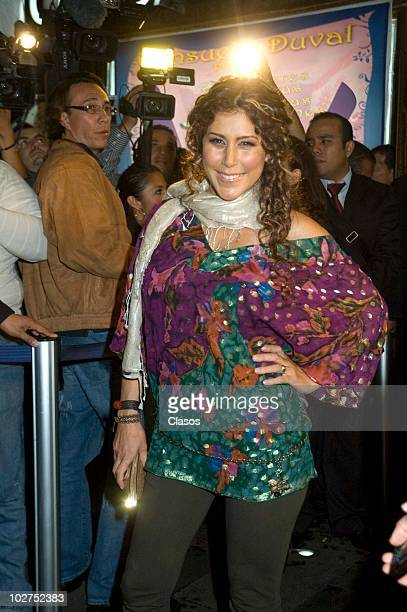 Vica Andrade poses for a photograph during the Red Carpet of the Inauguration of Showcenter at Insurgentes Avenue on July 7 2010 in Mexico City Mexico