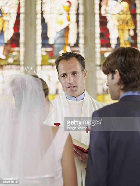 Vicar marrying young couple