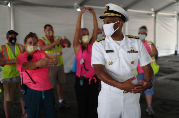 FL: US Surgeon General Jerome M. Adams Visits COVID-19 Testing Site In Miami