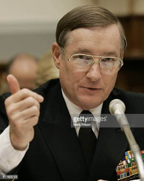 Vice Admiral Lowell E Jacoby Director of the Defense Intelligence Agency testifies before the House Armed Services Committee on Capitol Hill August...