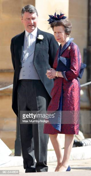 Vice Admiral Sir Tim Laurence and Princess Anne Princess Royal attend the wedding of Prince Harry to Ms Meghan Markle at St George's Chapel Windsor...
