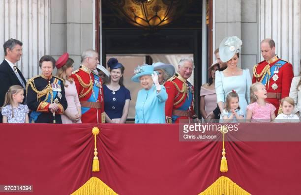 Vice Admiral Sir Tim Laurence Princess Anne Princess Royal Princess Beatrice Lady Louise Windsor Prince Andrew Duke of York Queen Elizabeth II Meghan...