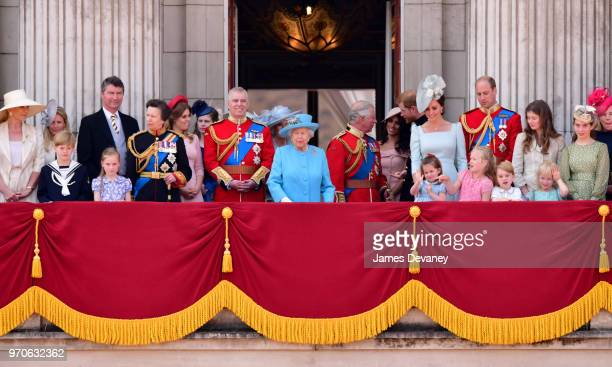 Vice Admiral Sir Tim Laurence Princess Anne Princess Royal Princess Beatrice Lady Louise Windsor Prince Andrew Duke of York Camilla Duchess Of...
