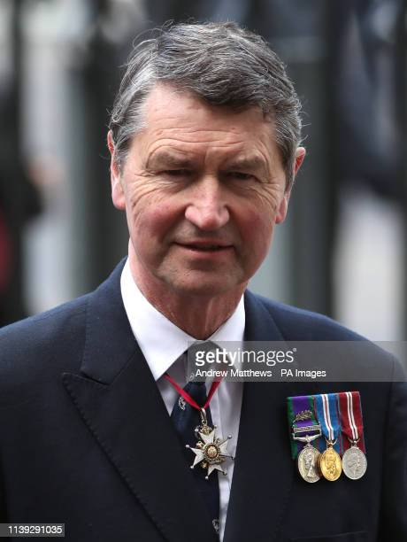 Vice Admiral Sir Timothy Laurence attends the Anzac Day Service of Commemoration and Thanksgiving at Westminster Abbey London