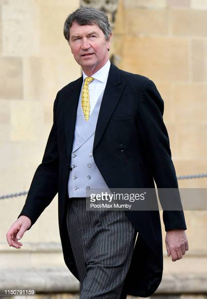 Vice Admiral Sir Timothy Laurence attends the wedding of Lady Gabriella Windsor and Thomas Kingston at St George's Chapel on May 18, 2019 in Windsor,...