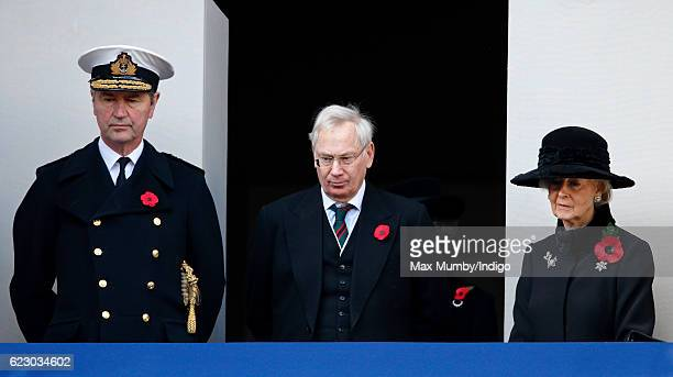 Vice Admiral Sir Timothy Laurence, Prince Richard, Duke of Gloucester and Princess Alexandra attend the annual Remembrance Sunday Service at the...