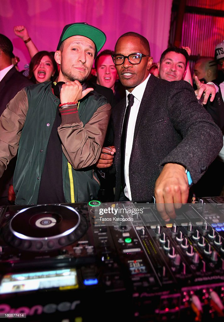 Vice and actor Jamie Foxx attend The Maxim Party With 'Gears of War: Judgment' For XBOX 360, FOX Sports & Starter Presented by Patron Tequila at Second Line Warehouse on February 1, 2013 in New Orleans, Louisiana.