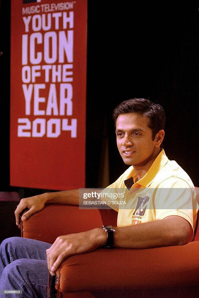 Vice captain of the Indian cricket team, Rahul Dravid, poses