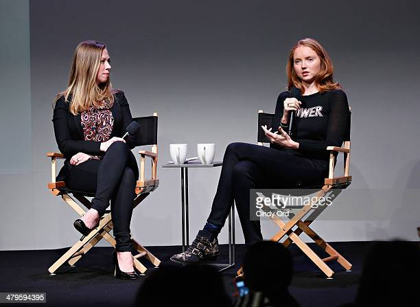 Vice Chair, Clinton Foundation, Chelsea Clinton and Impossible founder Lily Cole attend Meet the Developer: Lily Cole Interview by Chelsea Clinton at...