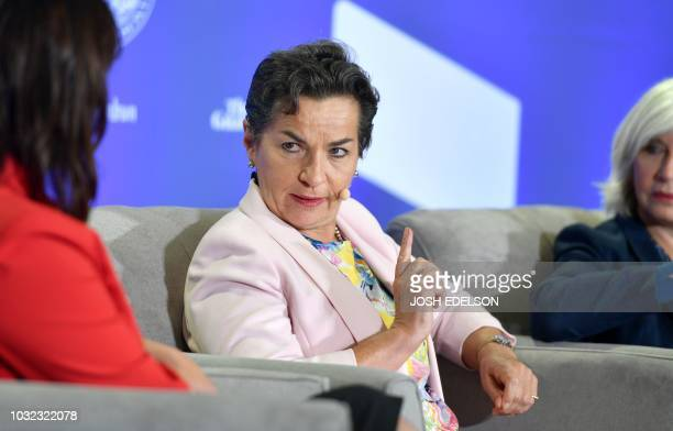 Vice Chair of the Global Covenant of Mayors for Climate Energy and Convenor of Mission 2020 Christiana Figueres speaks during the C40 Cities For...