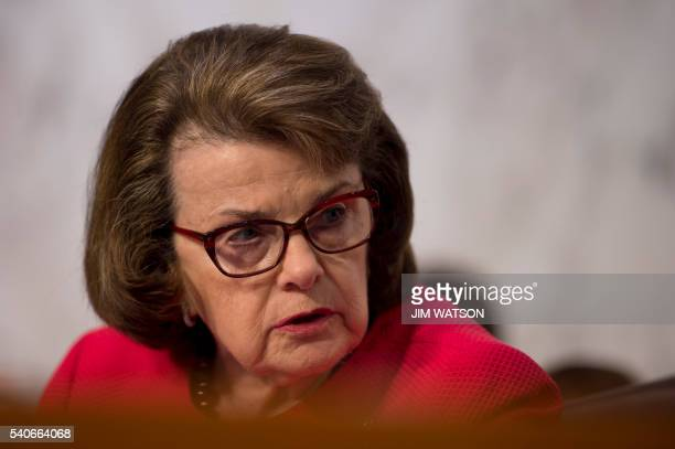 Vice Chair of the Senate Intelligence Committee Senator Dianne Feinstein speaks during a committee hearing with Director of the Central Intelligence...