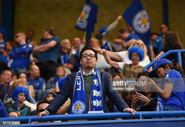 Vice Chairman Aiyawatt Srivaddhanaprabha of Leicester City looks on during the Barclays Premier League match between Chelsea and Leicester City at...