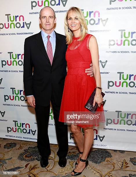 Vice chairman and global head of growth markets for Goldman Sachs Micahel Evans and wife Lise Evans attends Turnaround for Children 4th Annual Impact...