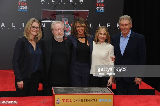 Vice Chairman and President of Production for 20th Century Fox Emma Watts, Sir Ridley Scott, wife Giannina Facio, Chairman and CEO of 20th Century...