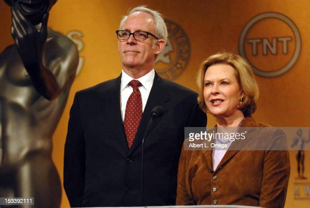 Vice Chairman Daryl Anderson and actress JoBeth Williams participate in the 18th Annual Screen Actors Guild Award Nominations held at Pacific Design...