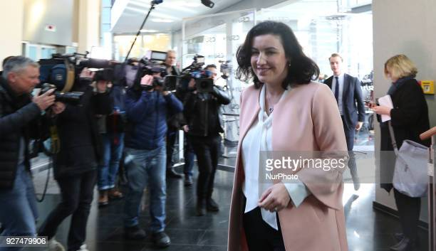 CSU vice chairman Dorothee Baer arrives at the board meeting on 5 March 2018 in Munich Germany The Christian Social Union held a board meeting where...