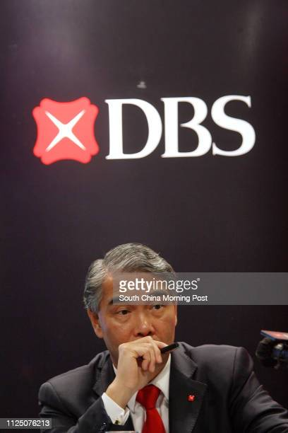 Vice Chairman Frank Wong Kwong-shing at the DBS Group Q3 results presser at 73F, The Center, 99 Queen's Road, Central. 26 OCTOBER 2007