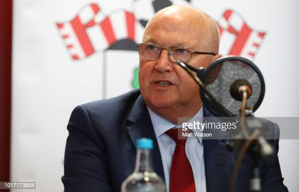 Vice Chairman Les Reed during a Southampton FC Fans Forum at St Marys stadium on August 16 2018 in Southampton England