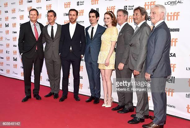 Vice Chairman of Lionsgate Michael Burns president of Lionsgate Erik Feig actor Ryan Gosling director Damien Chazelle actress Emma Stone Lionsgate...