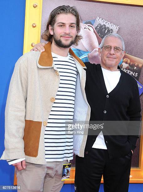 Vice Chairman of NBCUniversal Ron Meyer and his son Eli Meyer attend the premiere of Universal Pictures' 'Sing' at Microsoft Theater on December 3...