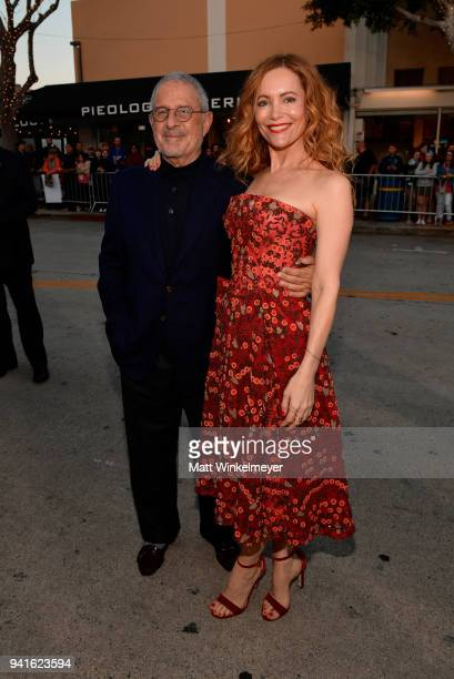Vice Chairman of NBCUniversal Ron Meyer and Leslie Mann attend the premiere of Universal Pictures' 'Blockers' at Regency Village Theatre on April 3...