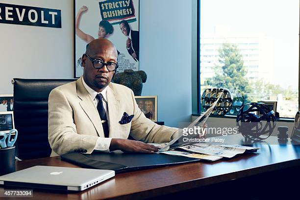 Vice Chairman of Revolt Andre Harrell is photographed for Billboard Magazine on September 8, 2014 in Los Angeles, California. PUBLISHED IMAGE.