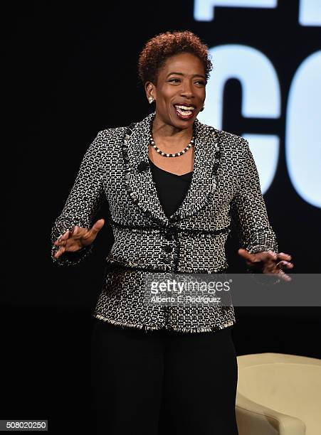 Vice ChairmanWealth Management Managing Director Client Services Advisor Morgan Stanley Carla Harris speaks at the AOL 2016 MAKERS conference at...