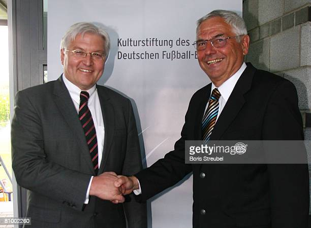 Vice Chancellor and Foreign Minister FrankWalter Steinmeier and chairman of the culturale foundation of the German football association Karl Rothmund...