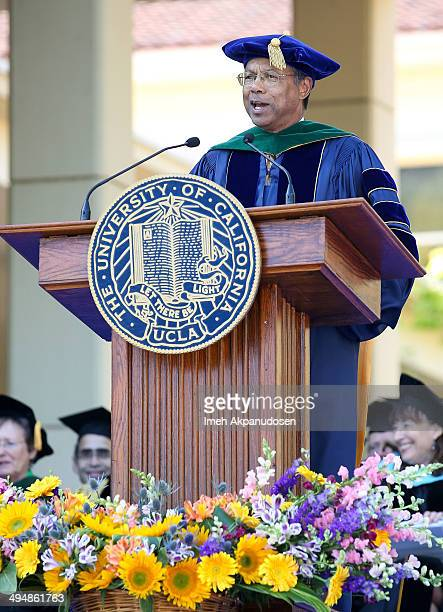Vice Chancellor for UCLA Health Sciences and Dean Dr A Eugene Washington speaks onstage at the David Geffen School of Medicine at UCLAs Hippocratic...