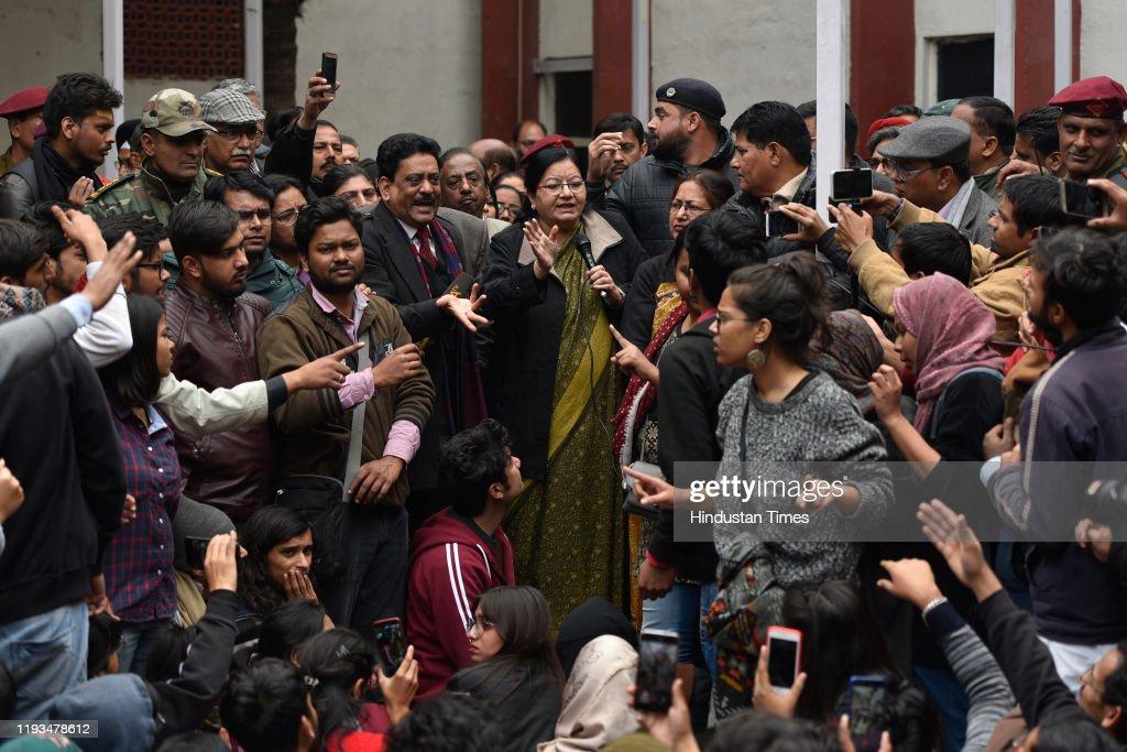 Jamia Millia Students Gherao Vice-Chancellors Office : News Photo