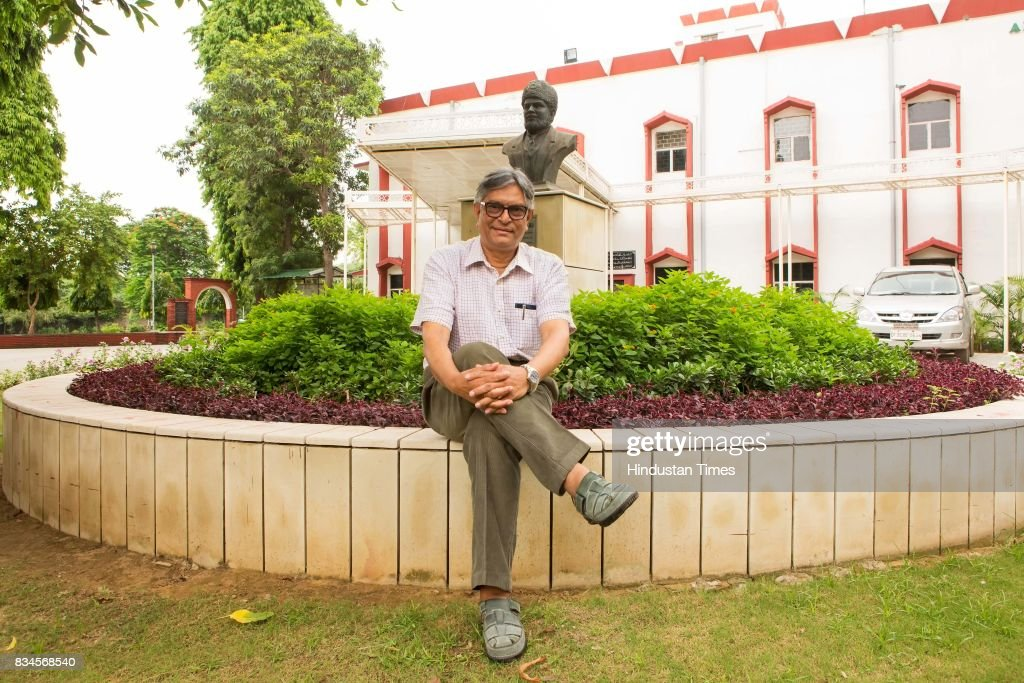 Vice Chancellor (VC) of the University Jamia Millia Islamia (Jamia), Professor Talat Ahmad poses during an exclusive interview with Hindustan Times, on August 2, 2017 in New Delhi, India. During the interview, Professor said, 'I belong to a small town, Giridih (Jharkhand) and when I came to Delhi to study, I remember I had a lot of survival issues as a student. I learnt to adjust by interacting with others. So, my advice to outstation students is that they should get themselves adapted to the new environment, and go slow with things. Try to understand that you have more freedom than school, but don't waste your time thinking you're free or are not being watched. The university is something youngsters come to for a brighter career and through a tough competition; so they should know the responsibility that's on them. Also, students must take part in extracurricular activities to build their personality along with [getting] education.'