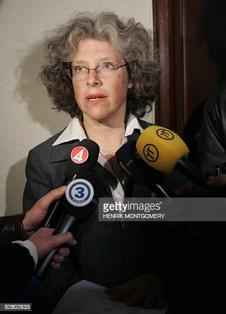 Vice chief prosecutor Agneta HildingQuarnstrom speaks to media in the Courthouse 12 May 2005 in Stockholm about the sentence for the two Iraqi Kurds...