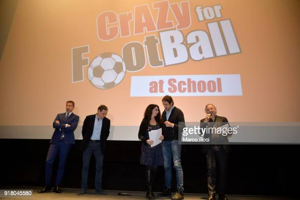 FIGC Vice Commissioner Alessandro Costacurta attends a meeting with students on February 13 2018 in Rome Italy