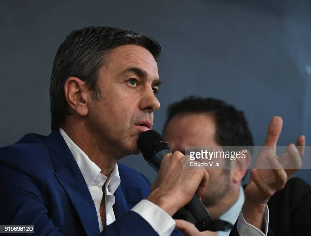 Vice Commissioner Alessandro Costacurta attends Italian Football Federation '2019 UEFA European Under21 Championship' Workshop on February 8 2018 in...