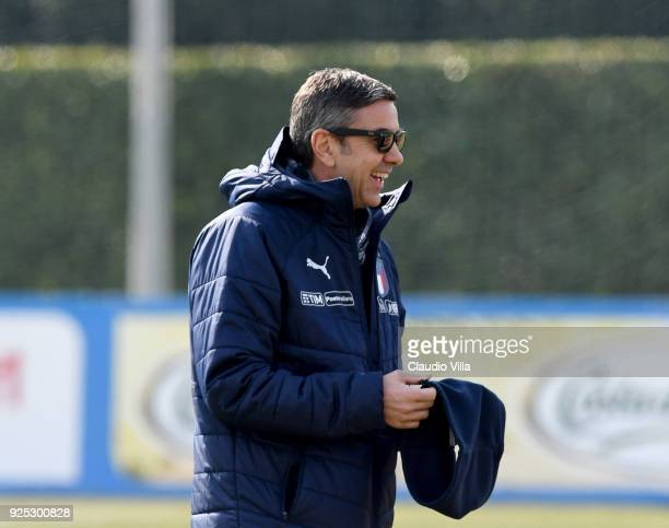 Vice Commissioner Alessandro Costacurta attends the friendly match between Italy and Fiorentina U19 at Coverciano on February 28 2018 in Florence...
