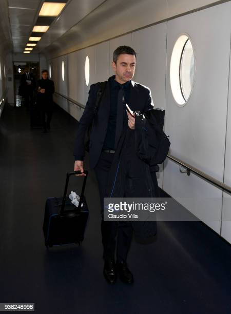 Vice Commissioner Alessandro Costacurta departs to London on March 26 2018 in London England