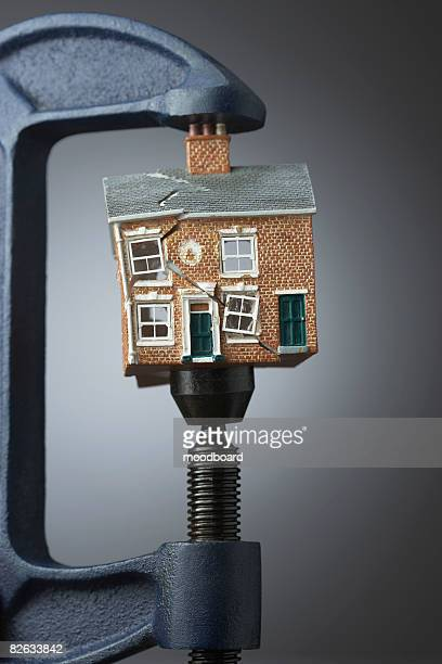 Vice gripping small model house