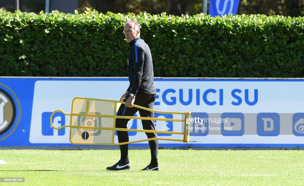 Vice Head Coach Marco Domenichini during a FC Internazionale Training Session at Appiano Gentile on October 6, 2017 in Como, Italy.