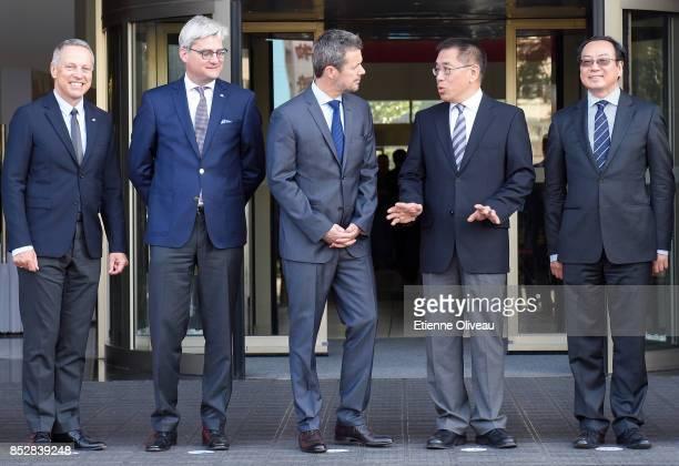 Vice Mayor of Beijing, Wang Ning , Crown Prince Frederik of Denmark , Danish Minister of Higher Education, Soren Pind and The Ambassador of Danmark,...
