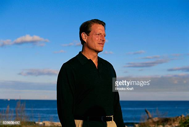 Vice President Al Gore visits the Seacoast Science Center in New Hampshire during his presidential campaign. Gore lost the 2000 Presidential Election...