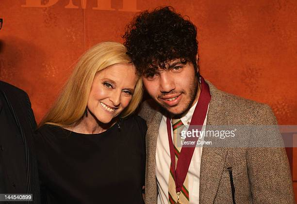 Vice President and General Manager Writer/Publisher Relations Los Angeles Barbara Cane and Songwriter/Producer Benny Blanco arrive at the 60th annual...