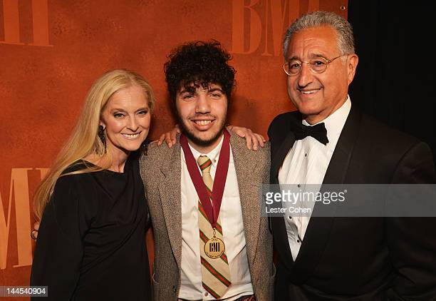 Vice President and General Manager Writer/Publisher Relations Los Angeles Barbara Cane songwriter/producer Benny Blanco and BMI President and CEO Del...