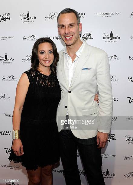 Vice President and Publisher of Bon Appetit magazine Pamela Drucker Mann and EditorinChief of Bon Appetit magazine Adam Rapoport arrive at Vegas...