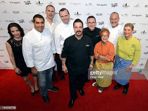 Vice President and Publisher of Bon Appetit magazine Pamela Drucker Mann chef Michael Mina EditorinChief of Bon Appetit magazine Adam Rapoport and...