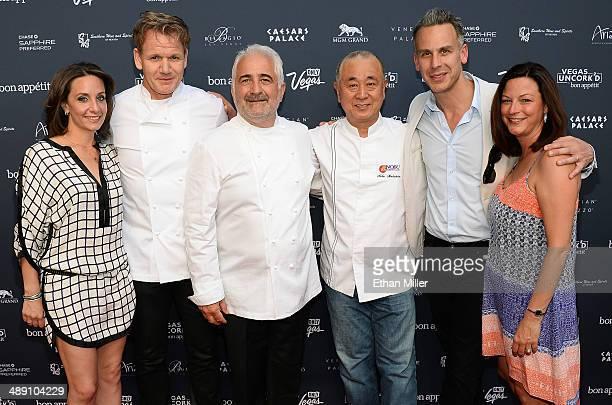 Vice President and Publisher of Bon Appetit magazine Pamela Drucker Mann television personality and chef Gordon Ramsay chefs Guy Savoy and Nobu...