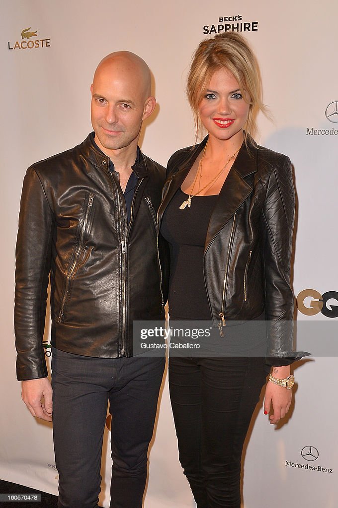 Vice President and Publisher of GQ Chris Mitchell and model Kate Upton attend the GQ Super Bowl party sponsored by Lacoste and Mercedes-Benzat The Elms Mansion on February 2, 2013 in New Orleans, Louisiana.