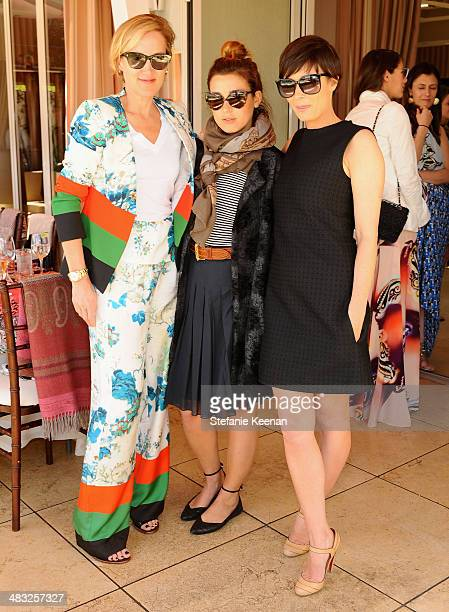 Vice President and Publisher of Vogue Susan Plagemann stylist Jamie Schneider and Cassandra Huysentruyt Grey attend Vogue Lunch In Celebration Of The...