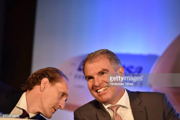 Vice President Asia Pacific Lufthansa Group Airlines Dieter Vrackx and Chairman of the Executive Board and CEO Lufthansa Group Carsten Spohr address...