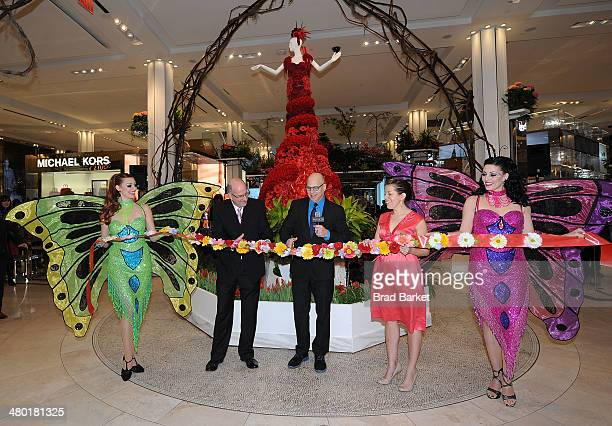 Vice President at Macy's Parade Studio John Piper Mike Gansmoe and Susan Tercero attend the 40th Annual Macy's Flower Show at Macy's Herald Square on...