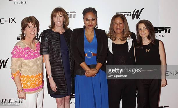 Vice President Content Programming and Development at ESPN Carol Stiff producer Jane Rosenthal director Ava DuVernay basketball coach C Vivian...